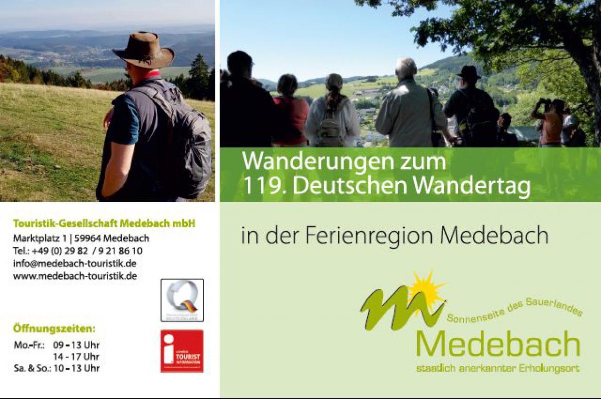 Wanderungen zum Deutschen Wandertag in der Ferienregion Medebach